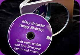 A birthday CD makes a unique birthday gift